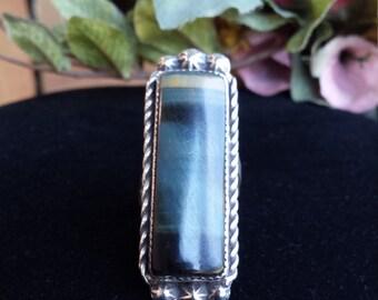 Sterling silver native American tiger eye ring
