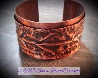 Textured Form Folded Cuff