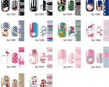 Hello Kitty pattern one set of Full Nail polish strips wraps sticker QJ#2
