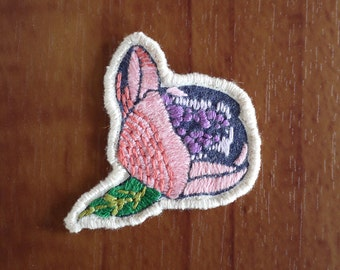 Hand Embroidered Rose Brooch