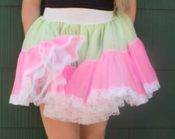 neon rainbow petticoat xl