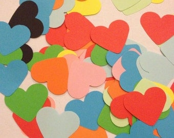 Large Mixed Multi Colored Heart Table Decoration, Event Confetti, Table Scatters, Baby Shower, Wedding