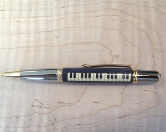 Inlaid Grand Piano Pen, Perfect gift idea! Handmade by Specialty Turned Designs