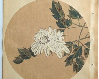 "Japanese antique woodblock print, Ito Jakuchu, ""Peony, from Jakuchu gafu"""