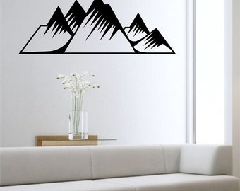 Mountain Wall Decal NATURE Sticker Art Decor Bedroom Design Mural home decor mother nature art
