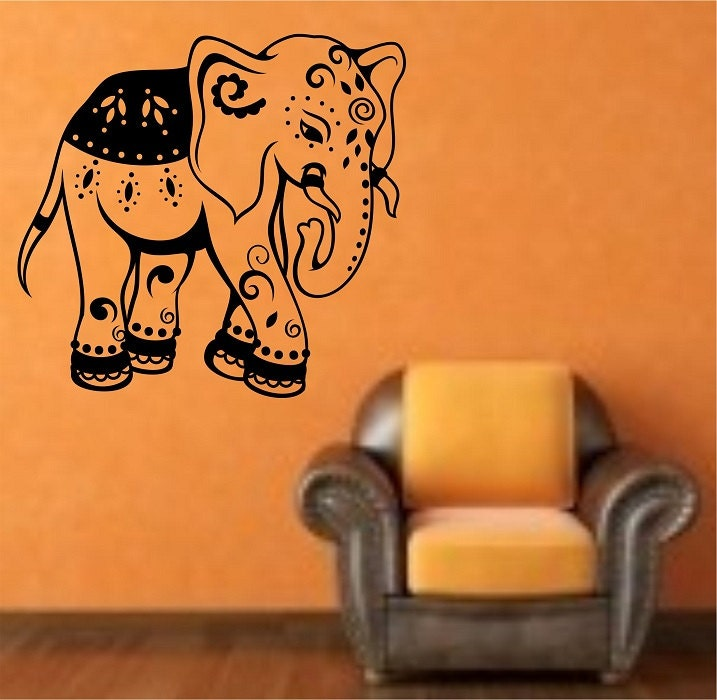 Elephant wall decal sticker art decor bedroom design mural for Elephant wall mural