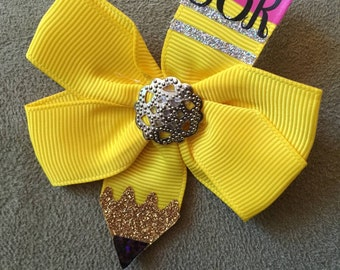 Back to School Personalized HairBows
