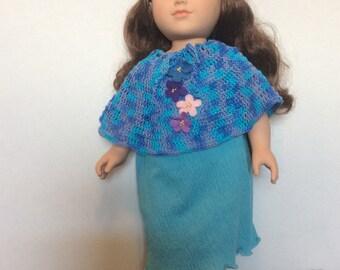 Dress with poncho
