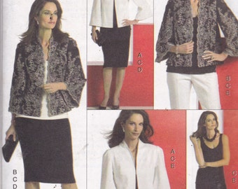 Vogue 8373 Vintage Pattern Womens Jacket, Skirt, Top and  Pants Size 6,8,10,12 UNCUT