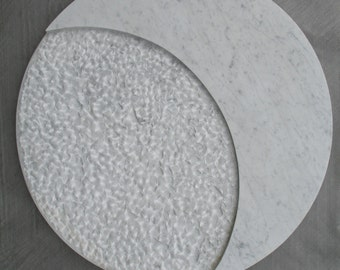 "SCULPTURE marble ""Lune"" white Carrara marble"