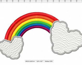 Love Rainbow Machine Embroidery Design