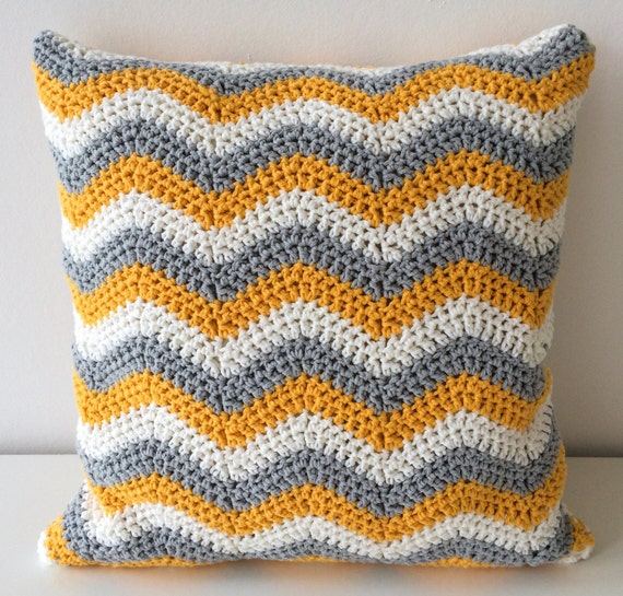 Etsy Yellow Throw Pillow : Throw Pillow Covers Yellow Throw PIllow by KnottyFlorist on Etsy