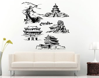 Pagoda decals etsy - Decoration stickers muraux adhesif ...