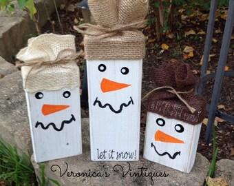 Christmas and holiday snowmen, christmas decor