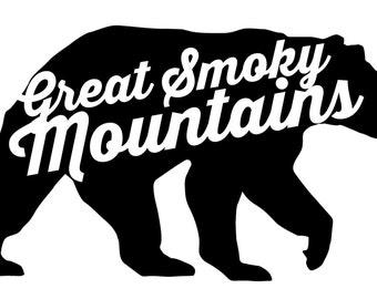 Smoky Mountain Bear Die-Cut Decal