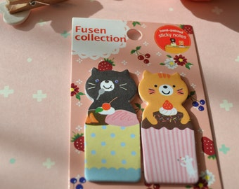 Cute Kawaii CATS & CAKE Animal Sticker Notes/1PACK