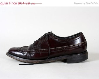 ON SALE Vintage Florsheim Shoe Burgundy Leather Oxford 10.5 C