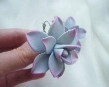 Cactus earrings Succulent earrings Flower earrings boho Cacti earrings Mexican earrings cactus Mexico ethnic earrings Floral earrings clay