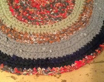 FREE SHIP-Crocheted Rag Rug