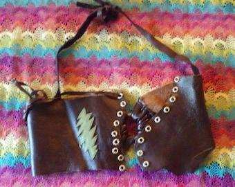 Leather Corset Style Halter