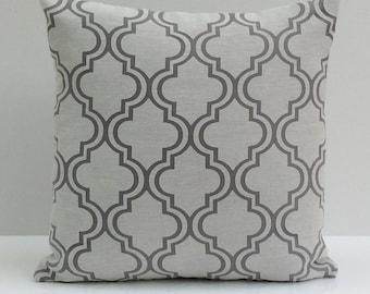 Off White and Grey Pillow, Throw Pillow Cover, Decorative Pillow Cover, Cushion Cover, Pillowcase, Accent Pillow, Toss Pillow, Sheer