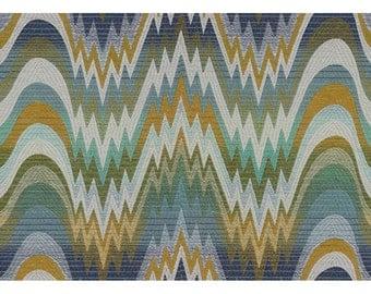 LEE JOFA KRAVET Bargello Jacquard Upholstery Fabric 10 Yards Blues Green Multi