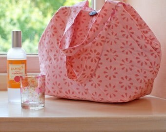 Pink Chukri Wash Bag Hand Block Printed on Organic Cotton