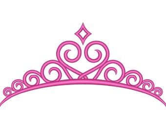 Tiara Embroidery Design - Princess Tiara - Machine Embroidery Princess - Embroidery Download - Princess Embroidery File - Embroidery Tiara