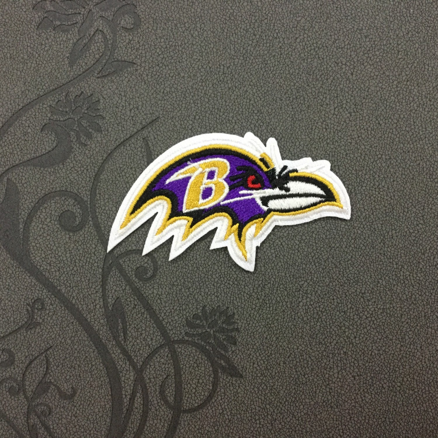 b00b726ed4c776 Baltimore Ravens team logo Iron on patch Iron on Applique hat patch bag patch  Embroidered Iron-On Patches sew on patches
