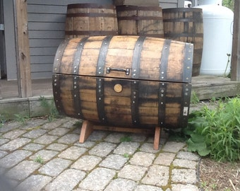Whiskey barrel chest