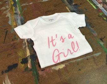 It's a Girl Gender Reveal Bodysuit/Gender Reveal Ideas/It's a girl/Gender Reveal Bodysuit/Gender Reveal Prop/ Gender Reveal