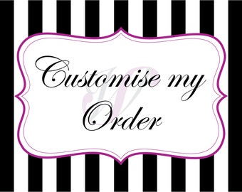 Customise my Order