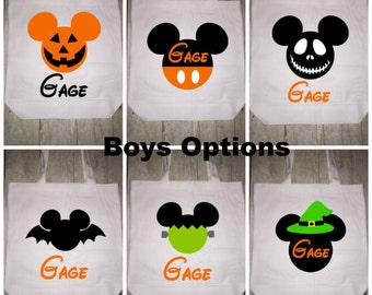 Disney Halloween Trick or Treat Bag Tote Boys