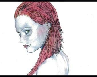 "Green Eyes signed 8.5""x11"" print"