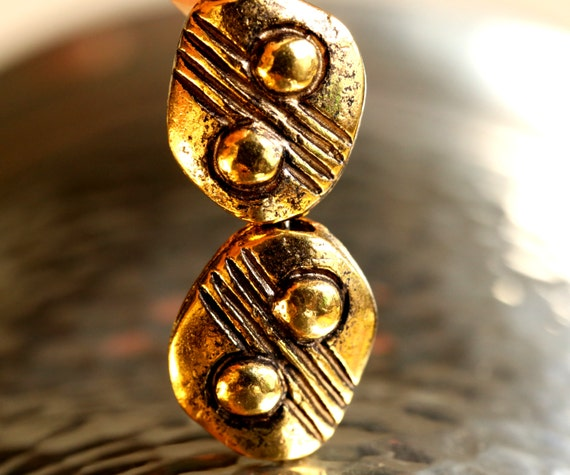 Coin Gold Beads Ornamental Charms 24k Gold Plated