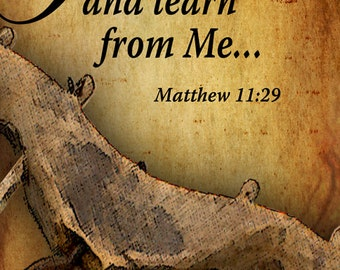 Take My Yoke upon You and Learn / Church or Personal Banners for Your Home or Office (G4215-1)