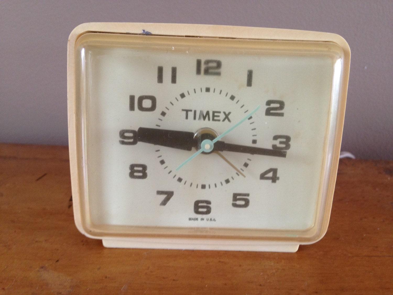 Electric Alarm Clock ~ Vintage timex electric alarm clock