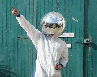 Disco-tastic! Mirror Ball Head Helmet