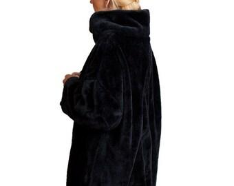 Long, cowl neck, black. Softest, coziest sweatshirt ever!