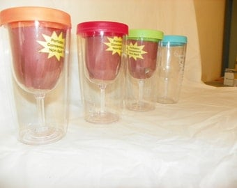 Personalized/Customizable/Sand Blasted Wine Glass Sippy Cups