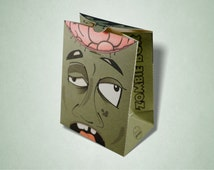Zombie Party Gift Box, Favor box, Loot Bag for zombie Halloween parties and events