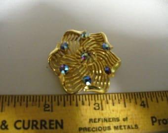 Vintage LISNER Blue Aurora Brooch(19)