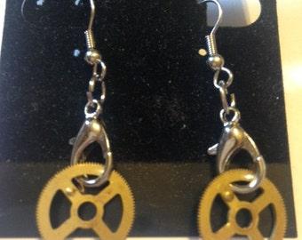 Steampunk Gear Earriangs