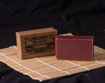 Blood Orange Soap, Bergamot Soap, Organic Soap, Essential Oils, Natural Soap, Herbal
