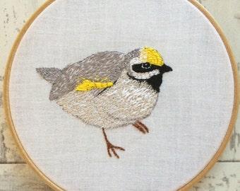 Woodland Coal Tit Bird Embroidery