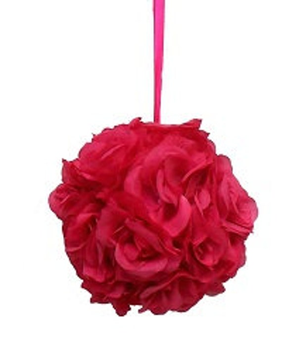 """Kissing Pomander ball made of all roses for decorations 8"""""""