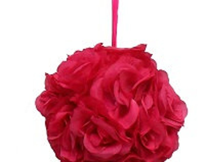 Kissing Pomander ball made of all roses for decorations 8""