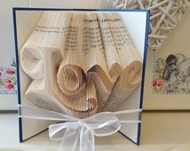Love Book Folding Pattern. DIY. Make your own gift. Please read Listing. PDF Files Only.