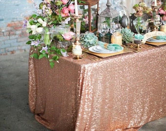 Glitzy Sparkling Sequin Square/Rectangular Table Cloth/Overlay- various colours and sizes available!