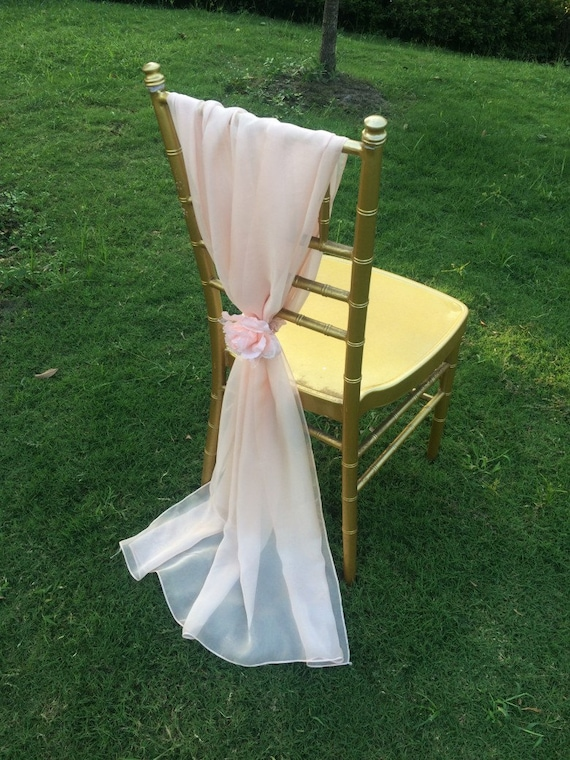 gorgeous wedding bridal chiffon chair sash with chiffon